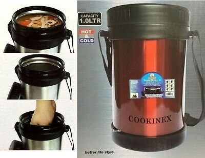 Cookinex Vacuum Stainless Steel Food Jug Flask Jar Wide Mouth Thermos 33.8 Fl Oz