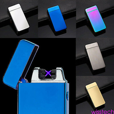 Electric Windproof Flameless Lighter Dual Arc Cigarette Plasma Rechargeable USB