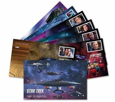 xca. STAR TREK, Complete COLLECTION of 7 Official FDC in folder Canada 2017