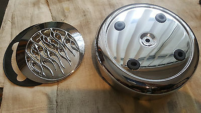 Harley Davidson  EVO Round Aircleaner cover with Inferno insert
