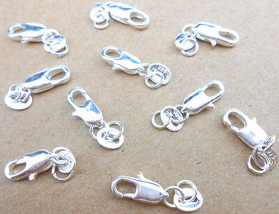 10PCS DIY Jewelry Findings 925 Sterling Silver Lobster Clasps With 925 Tag  FREE