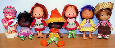 Big Lot of 1980s Kenner Strawberry Shortcake Dolls & Clothes - TLC to VGC