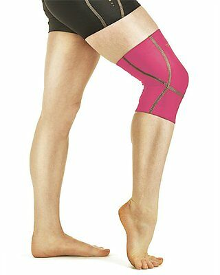 NEW Tommie Copper Women's Performance Triumph Knee Sleeve LARGE/Safety Coral