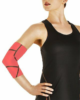 NEW Tommie Copper Women's Performance Boost Elbow Sleeve Size M/Safety Coral