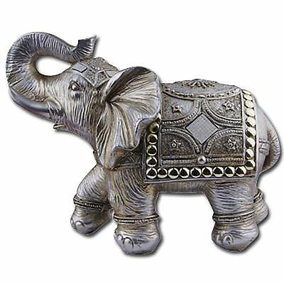 "6.5""Feng Shui E Elephant Trunk Statue Lucky Wealth Figurine Decor"