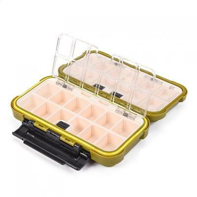 Waterproof Fishing Lure Box 24 Compartments Double Layer Fishing Tackle Box