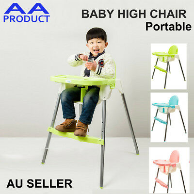 Portable Childcare Baby Toddler feeding Dining Shower High Chair Easy Assemble