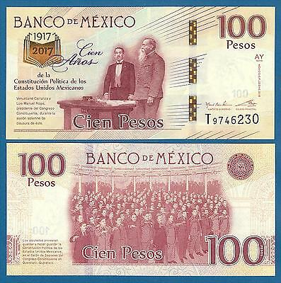 Mexico 100 Pesos P New 2016 (2017) UNC Commemorative Low Shipping Combine FREE