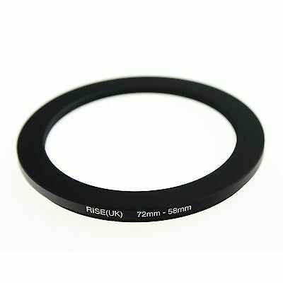 RISE(UK) 72-58MM 72 MM- 58 MM 72 to 58 Matel Step Down Ring Filter Adapter