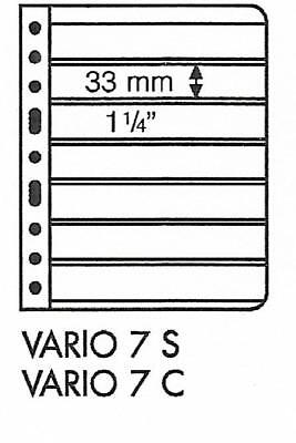 LIGHTHOUSE VARIO 7 STRIP BLACK STAMP ALBUM STOCK SHEETS Pack of 50. Strips 33mm