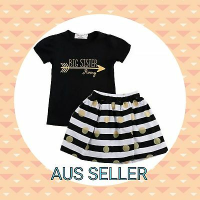 Girls Clothing Set Outfit 2pc- Top + Skirt - Size 5 Toddler Kids - BNWT