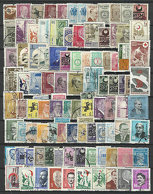 TURKEY STAMP COLLECTION PACKET of 100 DIFFERENT Stamps NICE SELECTION