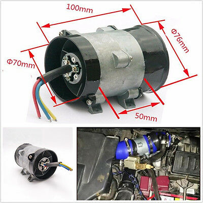 300W 12V 35000 rpm Car Electric Turbine Power Turbo Charger Air Intake Boost Kit