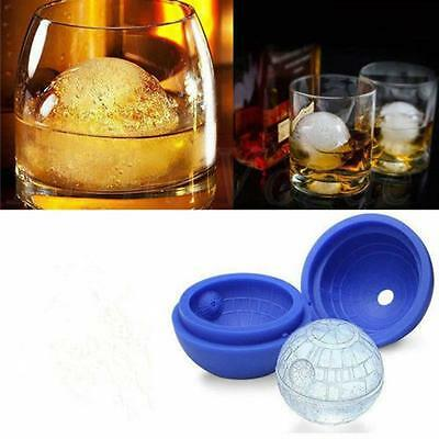 1pcs Silicone Wars Death Star Mould DIY Ice Cube Soap Chocolate Mold Tray FW