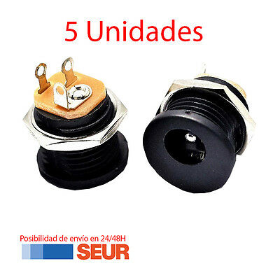x5 Conector Jack DC Power DC-022 5,5x2,1mm Arduino Electronica