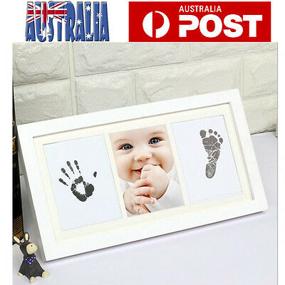 DIY Baby Keepsake Hand Foot Print Ink Imprint Kit 100% Safe Shadowbox Photoframe