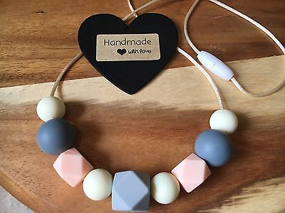 Silicone Sensory (was teething) Necklace for Mum Jewellery Beads Aus Peachy