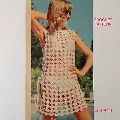 Beach Cover-Up Tunic Vintage Crochet PATTERN                              62