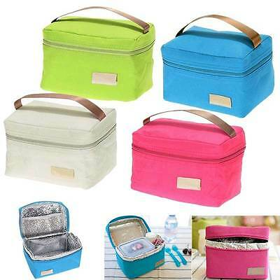 Kids Adult Oxford Tinfoil Insulated Thermal Picnic Waterproof Tote Lunch Bag