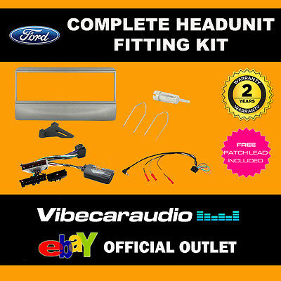 Connects2 CTKFD27 Ford Car CD Stereo Sliver Fascia Replacement Fitting Kit