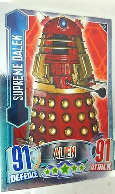 DOCTOR WHO  alien attax MIRROR  FOIL  Card Set  of 32 Topps UK