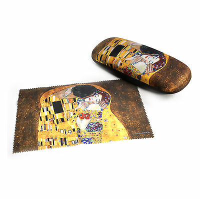 Gustav Klimt - The Kiss Glasses Case & Art Lens Cloth
