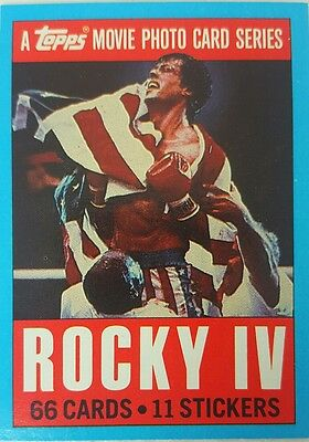 ROCKY IV  - 4  Trading Card set of 66 TOPPS  1985 Sylvester Stallone