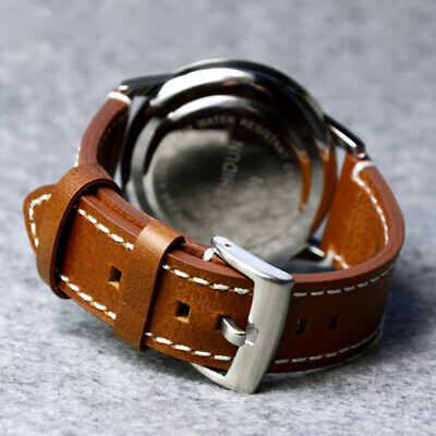 Watch Band Replacement Genuine Leather 18/19/20/21/22mm Wristwatch Strap Buckle
