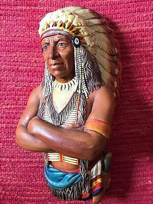 Vintage Bossons Native American Chief WALL PLAQUE          482 W