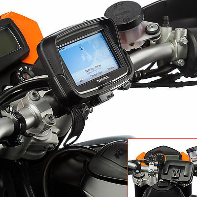 Motorcycle Locking Strap 21-40mm Bike Mount with Holder for TomTom Rider v5 4.3""