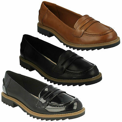 0a72616dfac Griffin Milly Ladies Clarks Slip On Low Heel Casual Formal Loafers Shoes  Size