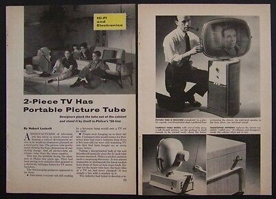 Philco Predicta TV 1958 vintage Test Report Review