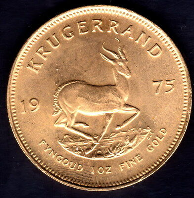 1974 1oz Gold Krugerrand Bullion Coin UNC