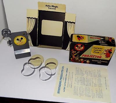"""DISNEY 1950's """"MICKEY MOUSE CLUB FILM PROJECTOR"""" SET-COMPLETE-WORKS-AWESOME!"""