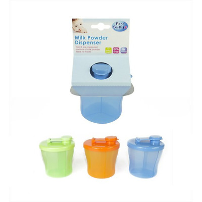 First Steps Milk Powder Baby Feed Dispenser with 3 Sections - Choose Colour