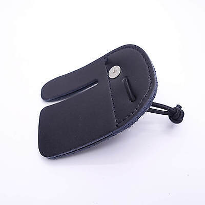 Mandarin Duck Recurve Bow Finger Tab Leather Black Hunting Guard Protective