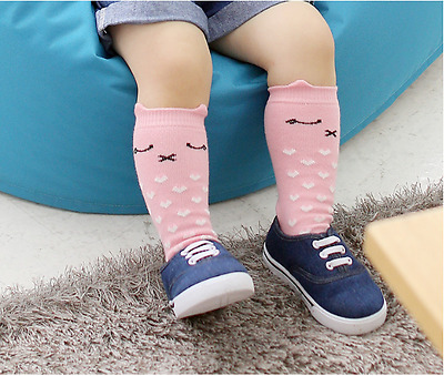 Baby Children Girls Toddler Cat Socks Soft Cotton Knee High Hosiery Tights Leg