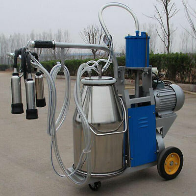 Electric Milking Machine For cows +Bucket Stainless Steel Automatic Vacuum Pump