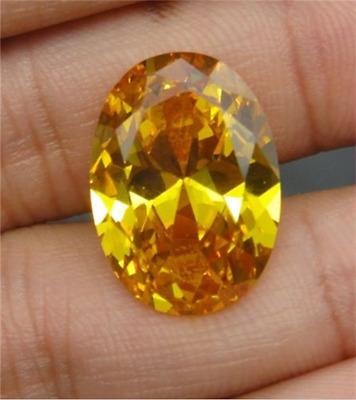 14.37CT UNHEATED YELLOW SAPPHIRE 12x16MM DIAMOND OVAL CUT AAAA+ LOOSE GEMSTONE