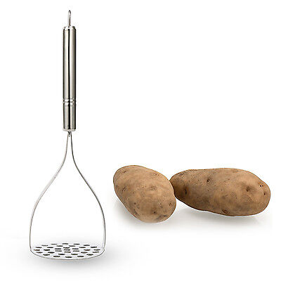 YaeKoo Stainless Steel Potato Masher ricer with Broad and Ergonomic