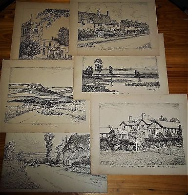 ✍ Original Pen and Ink Drawings by George Harrison (1876 - 1950)