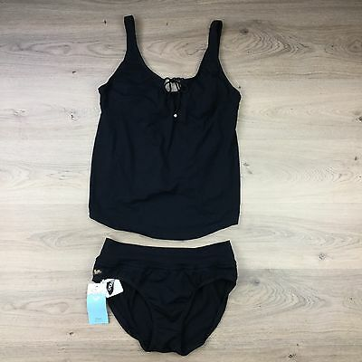 Ilant Maternity Tankini Swimwear Bathers Black Sizes 18 & 20 avail RRP $90 (RR)