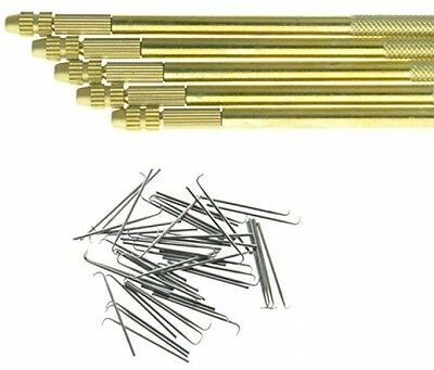 1 Holder and 4 Needles(1-1,1-2,2-3,3-4 Strands) For Ventilating Wigs Brand NEW