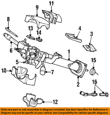 Dodge Chrysler Oem Dakota Steering Column Transmission Shift Lever