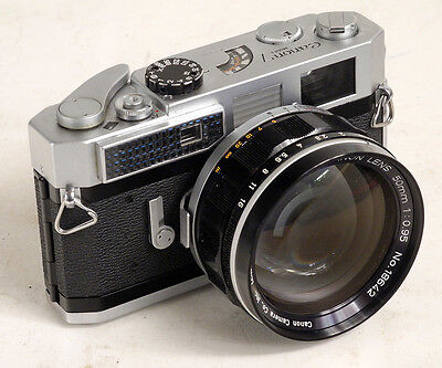 Canon 7 35mm film Camera w/ Canon  50mm  f .95  Lens Leica  Breech Mount