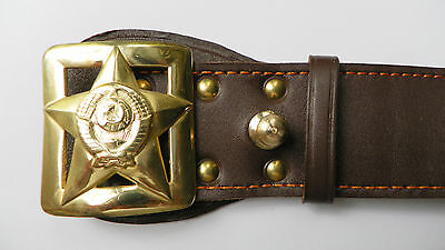 RUSSISCHE UdSSR Militär Armee KOPPEL GÜRTEL New Military General's Army Belt #2