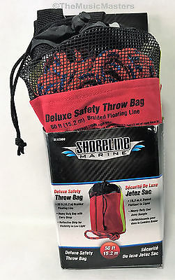 Deluxe Safety Throw Rope Bag Swimming Boating Emergency Rescue Life Saving Help
