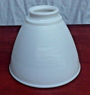 Large Vintage White Milk Glass Globe Diffuser for Tole or Antique Lamp Mint