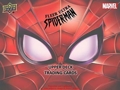 2017 UD Fleer Ultra Spider-Man FULL BASE SET #1-100 Venom Carnage Deadpool etc