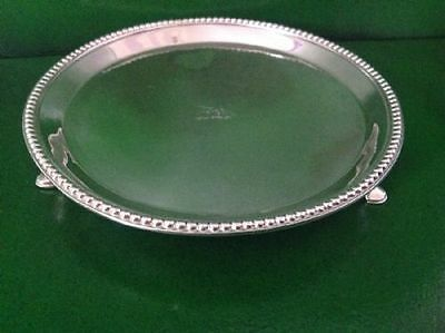 Hester Bateman Georgian Antique English Sterling Silver Salver London 1780